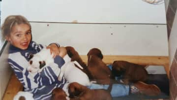 One of the boxer litters I grew up with