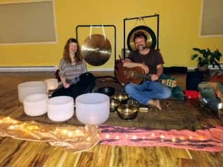 Photo for a co-created sound healing performance December 2019