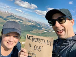Our hike to the top of Mount Bierstadt in Colorado.