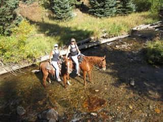 Riding in Colorado with a friend.