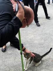 We always take time to greet animals no matter where we are in our travels.