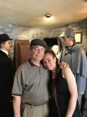 Ed & Susan @ The Sherlock Holmes Museum