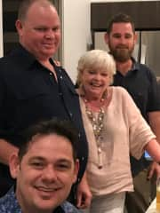 Gabrielle with three of her four sons.