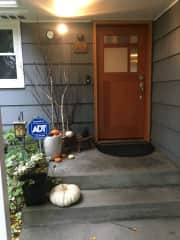 Our front door.  We have an alarm system that's easy to key in when you enter the front door.