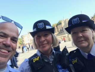 Myself with London's finest