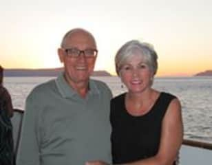 Pam and Gary sailing in the Greek Islands
