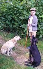 Sasha & Ren with their Master!
