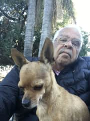 Ray with Troy, my daughters' dog