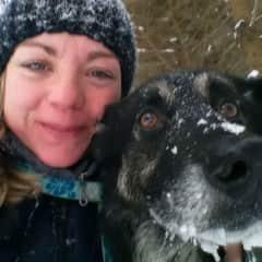 Myself and my beloved dog Kalli who has passed away.