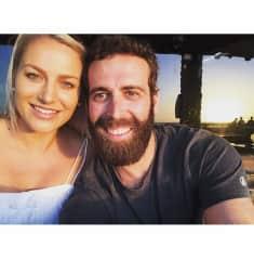Matt and Hayley in Lancelin,