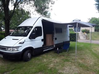 My campervan first night in France
