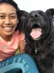 Lucky and me taking a wefie!