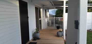 Front door and deck