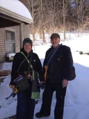 Heading out to tap 5000 maple trees on the farm
