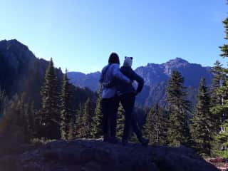 Hiking in the Olympic National Park. We love to be amongst the mountainss