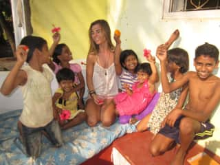Playing with the local kids in Goa!
