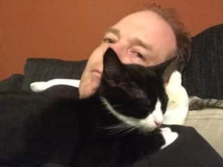 Felix sleeping on my husband