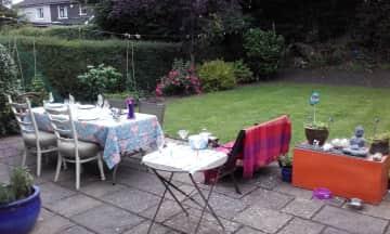 South-facing back garden