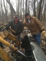 My dad and maple syrup collecting in the North woods😊