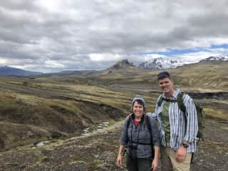 James and Joyce - hiking in Iceland