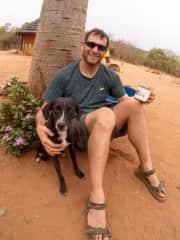 Kelly enjoying the morning at our Zimbabwe village volunteer