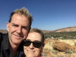 Kerry and Richard in Central Australia