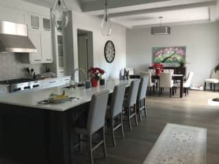 Kitchen/dining.  Our house is open concept