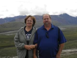 Fred and I in Denali, Alaska