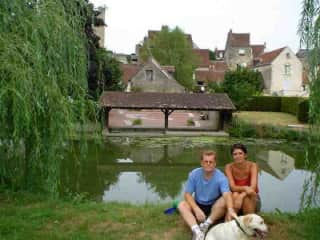 Our dog Heidi at our place in France 15+ years ago.