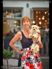 Oriana with Fix the dog!