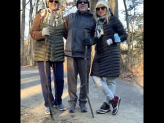 My parents and I on a hike in PA.