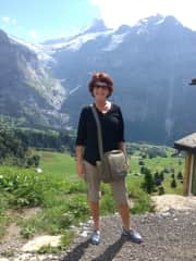 Donna, travelling solo in Switzerland,  2017