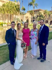 My youngest daughter, Hannah, a Navy registered nurse,  at her wedding to Marine CAPT. Miles Eaglowski in Balboa Park San Diego.