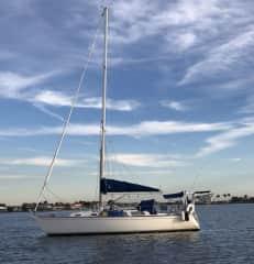 s/v Mistal at anchor gulf coast of Florida.