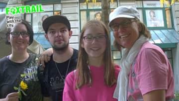 Caroline Maurice, Tobi, Selina and I