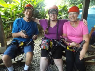 Parents and I Before Ziplining