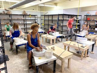 A new experience for me at The Newburgh Pottery studio in New York.