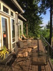 Deck off living area