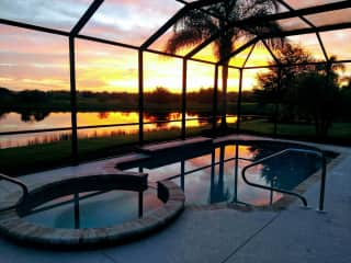 Private Pool pic taken at dusk
