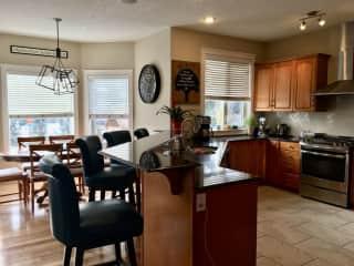 Bright, spacious kitchen.