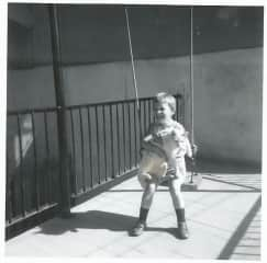 Me at 5 with my neighbour's cat