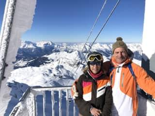 Nendaz in Verbier Ski system, Switzerland, New Year 2020