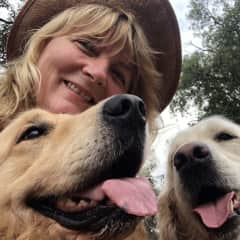 Me, Elke and my two dogs. César and Jeena