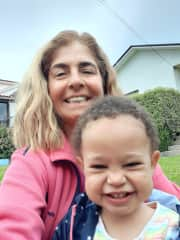 Ligia with our little granddaughter