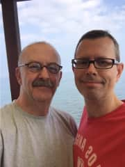 Neal (l) and Peter (r) on vacation in Hawaii