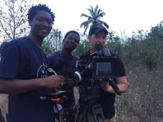 Filming in Benin, Africa