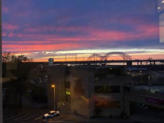 View of sunset from my office!