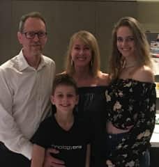 Viv (dad), Lisa (mum), Stella (19) and Sam (11)