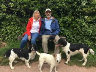 Jo and Woodie house/dog sitting in Tiverton, UK May 2019