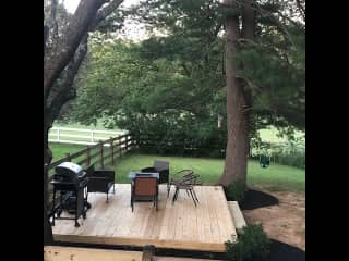 our deck and bbq ;) we also have a fire pit